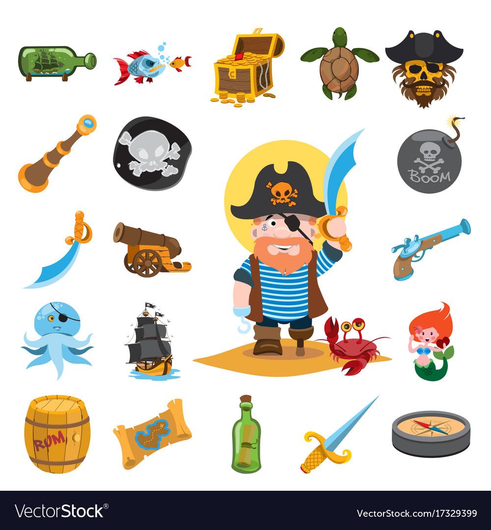 Pirate icons pirate pirate captain
