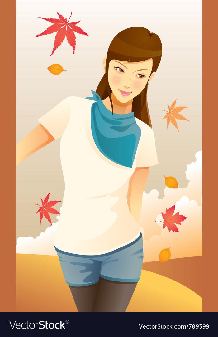 Pretty autumn girl