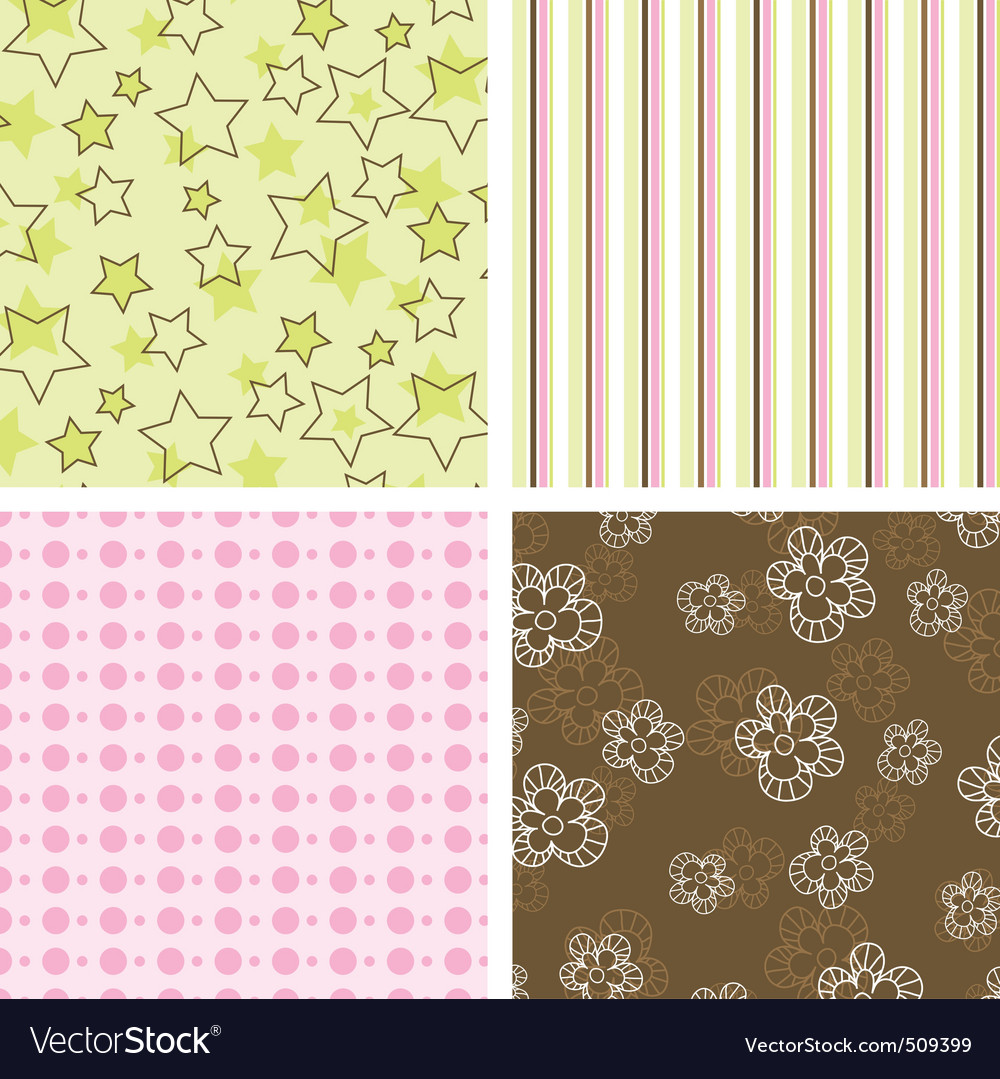 Scrapbook patterns vector image