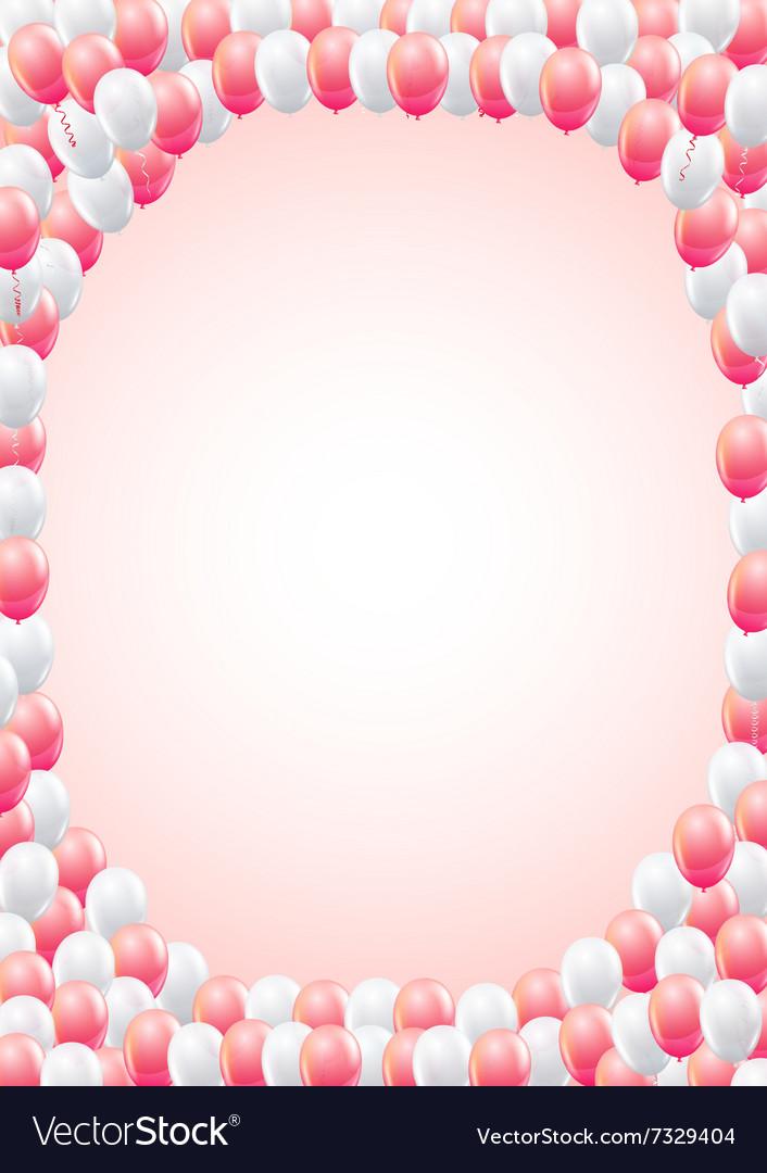 Balloons frame template vector image