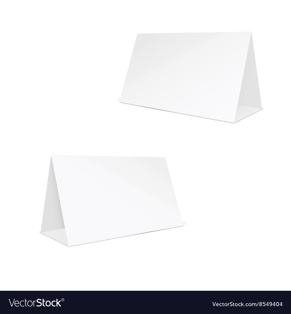 Blank white stand table holder