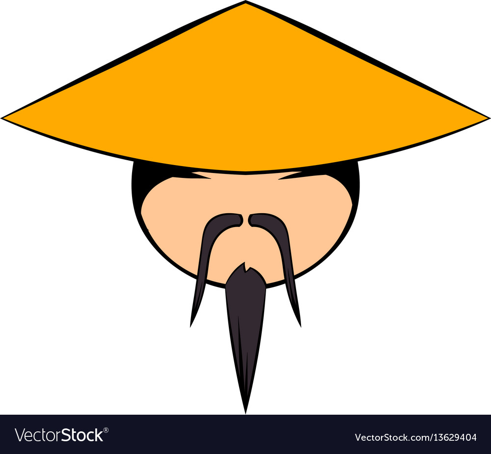chinese man icon cartoon royalty free vector image rh vectorstock com chinese man cartoon pic chinese man cartoon image