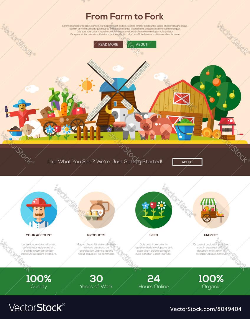 Farmery website header banner with webdesign