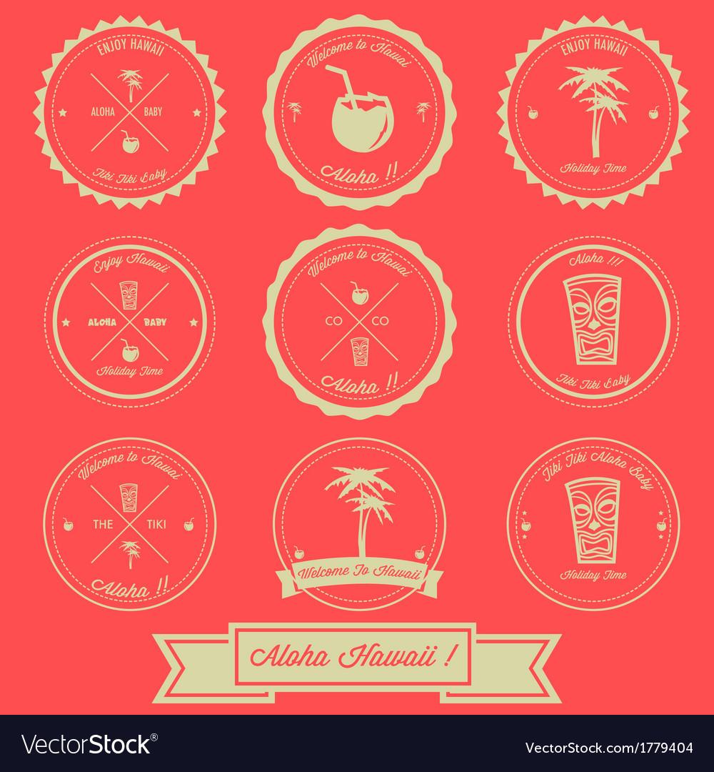 Hawaii Holiday Vintage Label Design