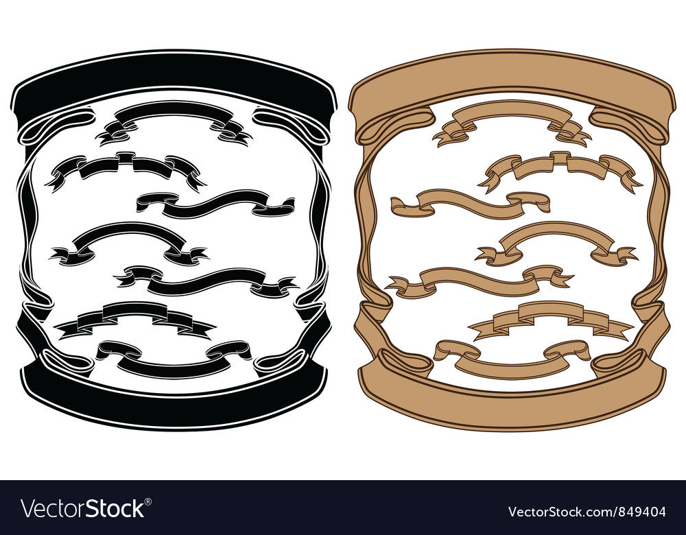 Isolated image of a ribbons vector image