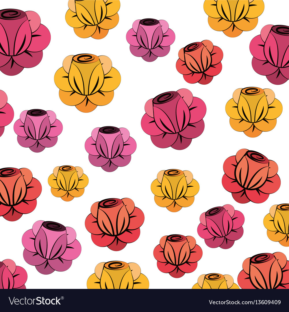 Beautiful spring roses icon