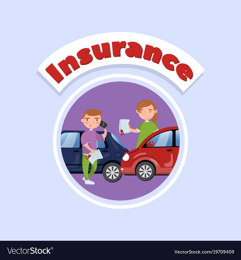 Car traffic accident auto insurance concept