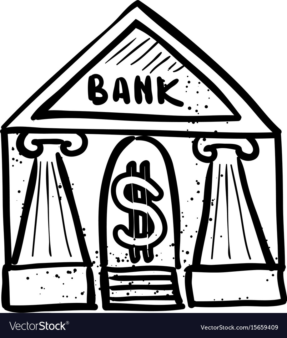 Cartoon Image Of Bank Icon Government Symbol Vector Image