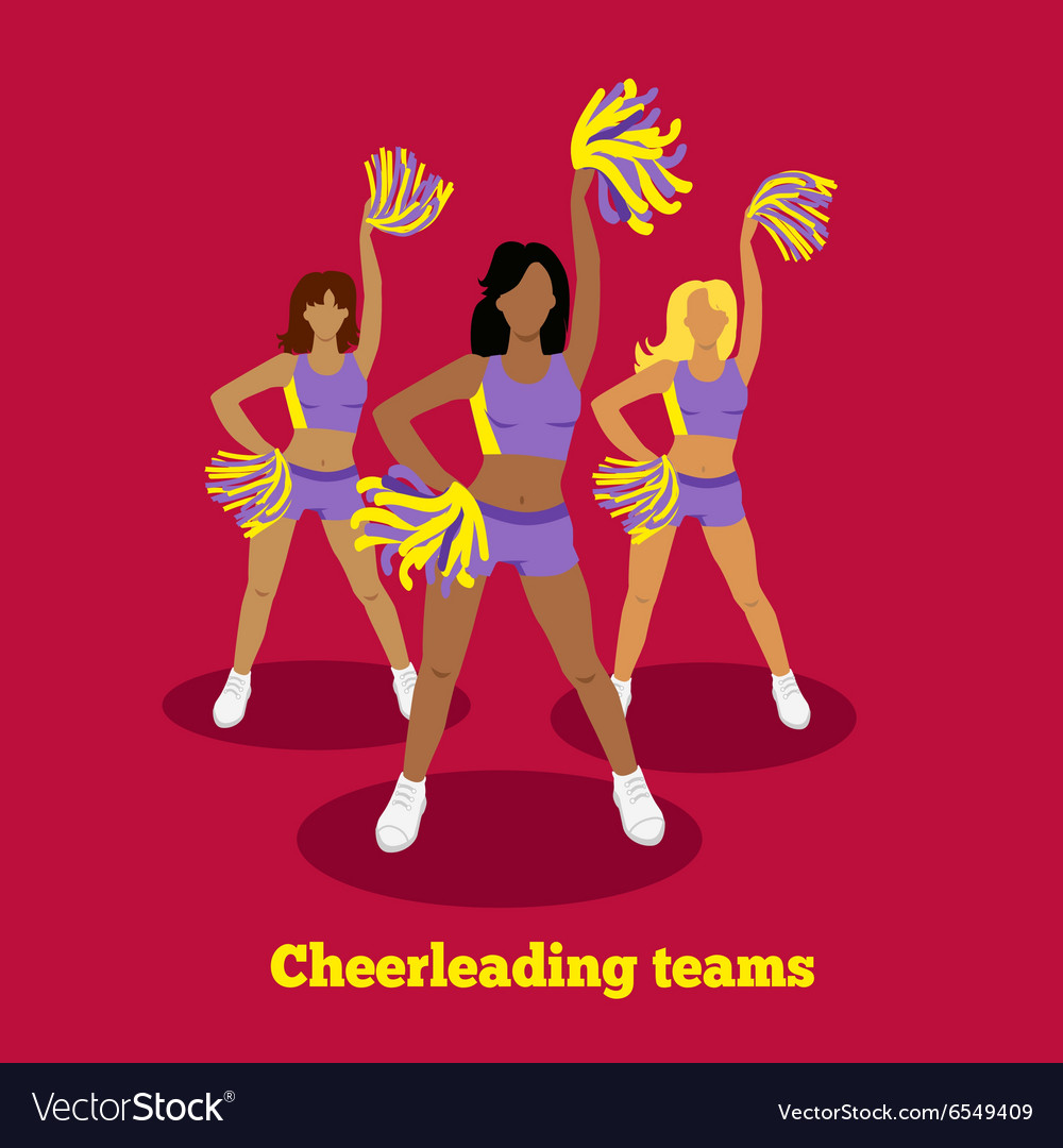 Cheerleading Team Concept Flat Design