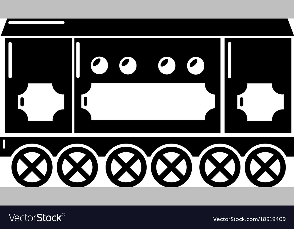 Compartment carriage icon simple style