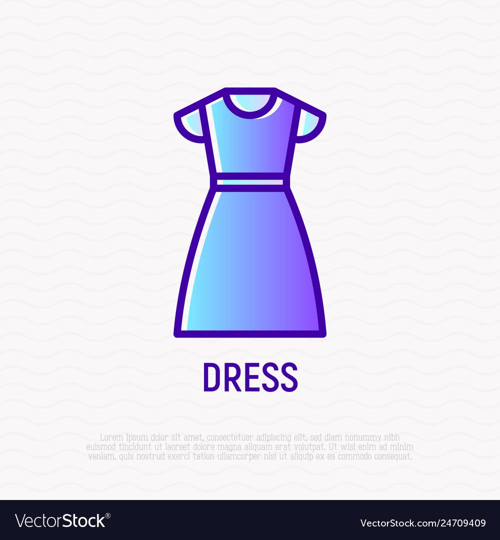 Dress thin line icon