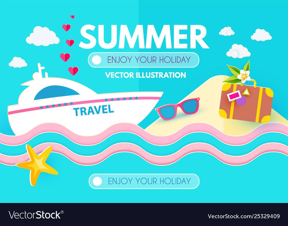Hot vacation design template summer travel enjoy