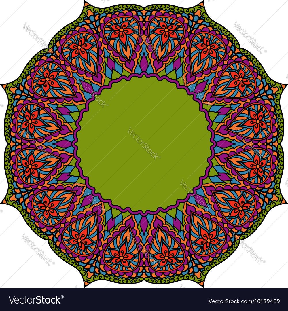 Multicoloured Indian mandala Tribal element in vector image