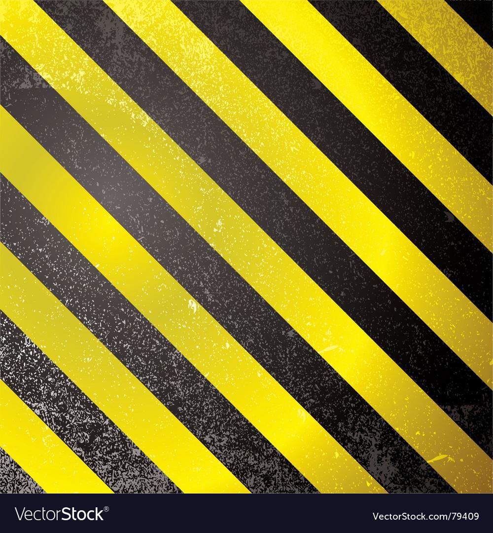 Warning grunge stripe