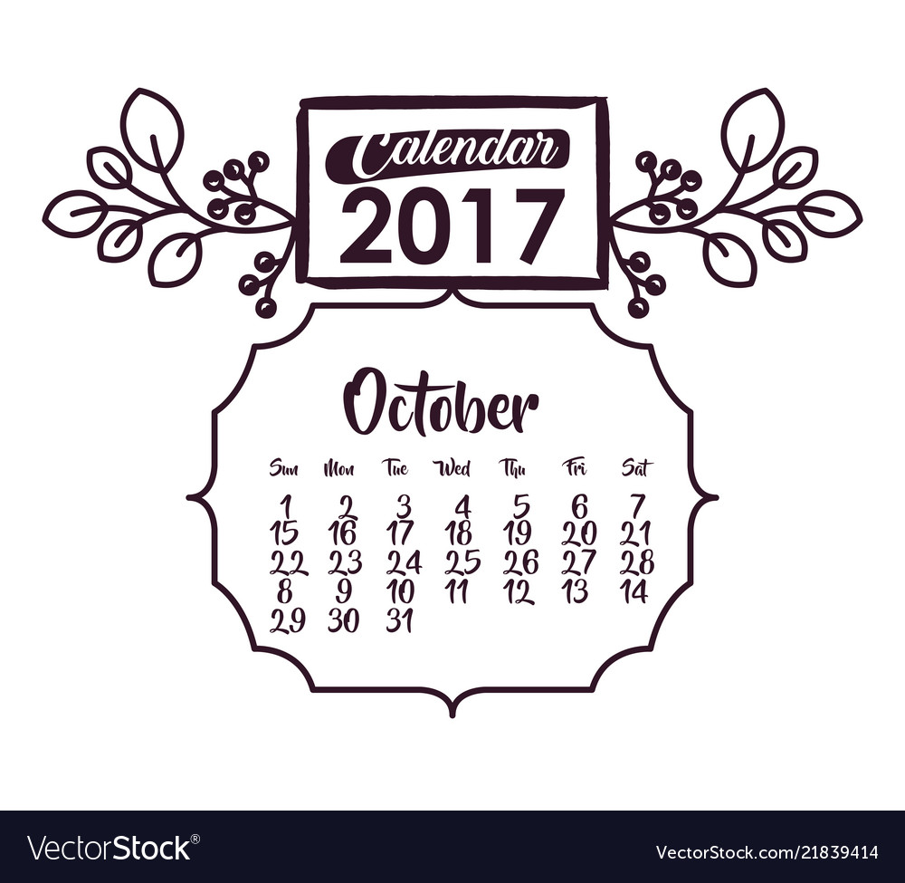 Calendar of 2017 year design