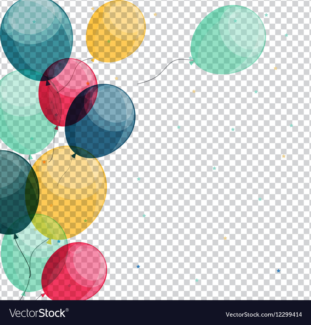 Glossy Happy Birthday Balloons On Transparent Vector Image Download clker's birthday balloons clip art and related images now. vectorstock