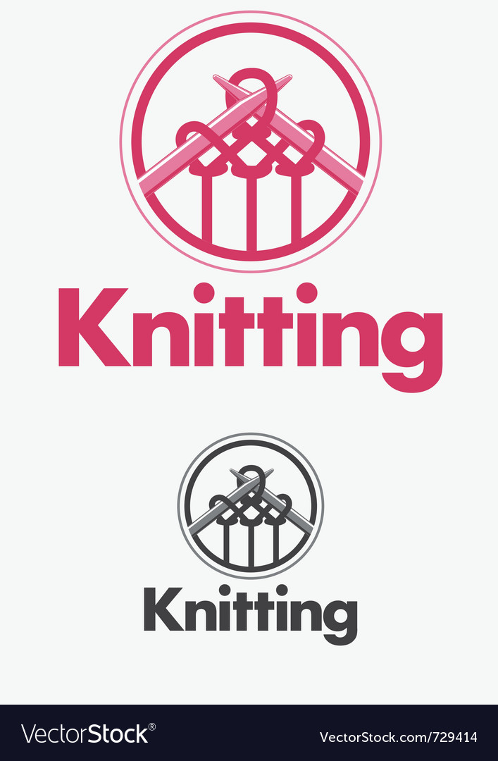 Knitting logo vector image