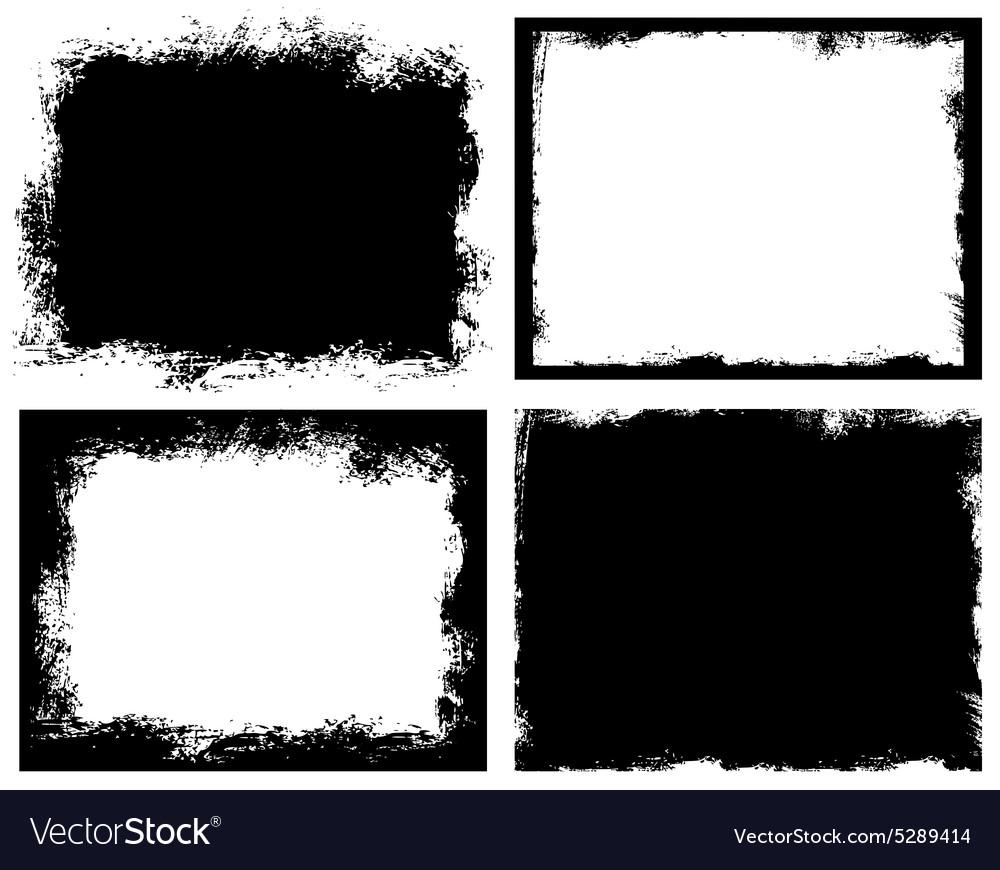 Set of grunge background Broken dirty rough vector image