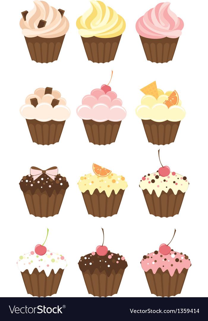 Set of muffins
