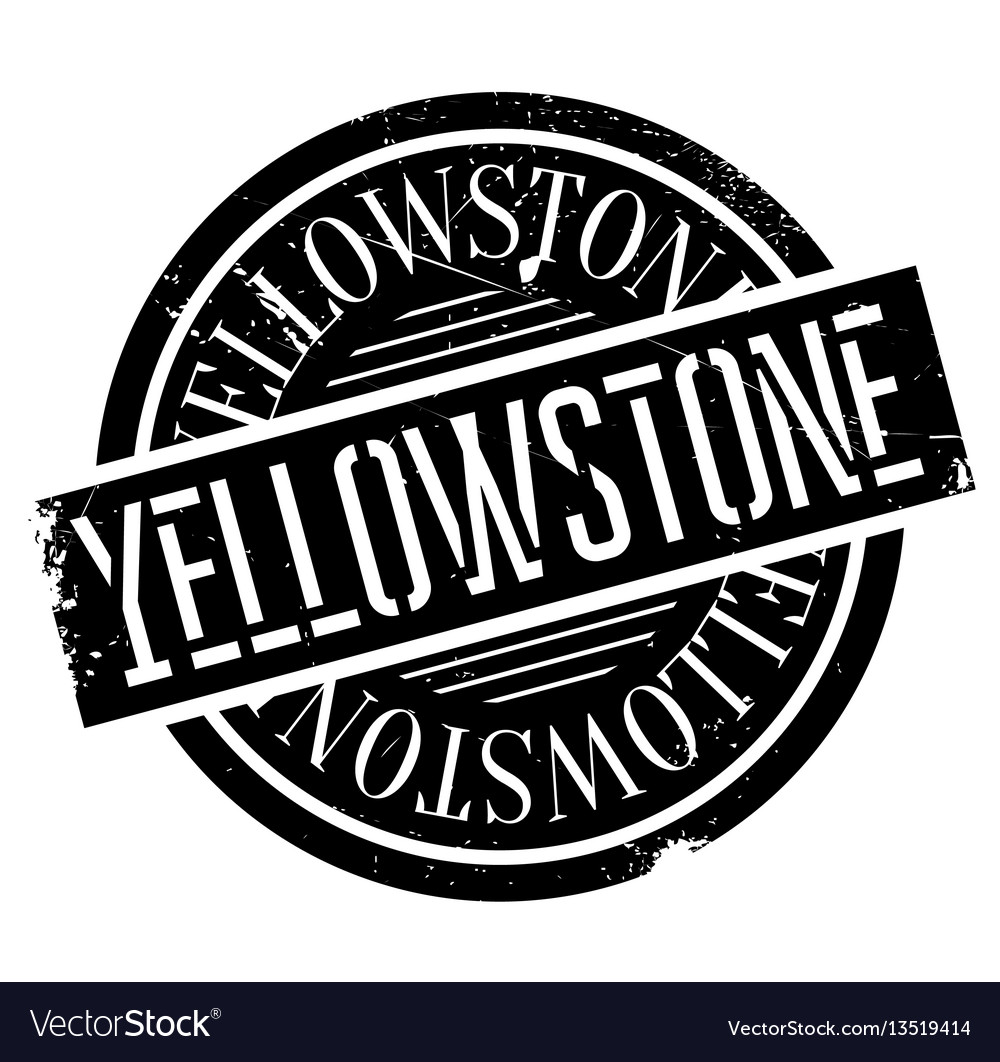 Yellowstone rubber stamp