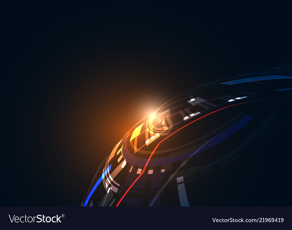Abstract geometric technology shape of glowing