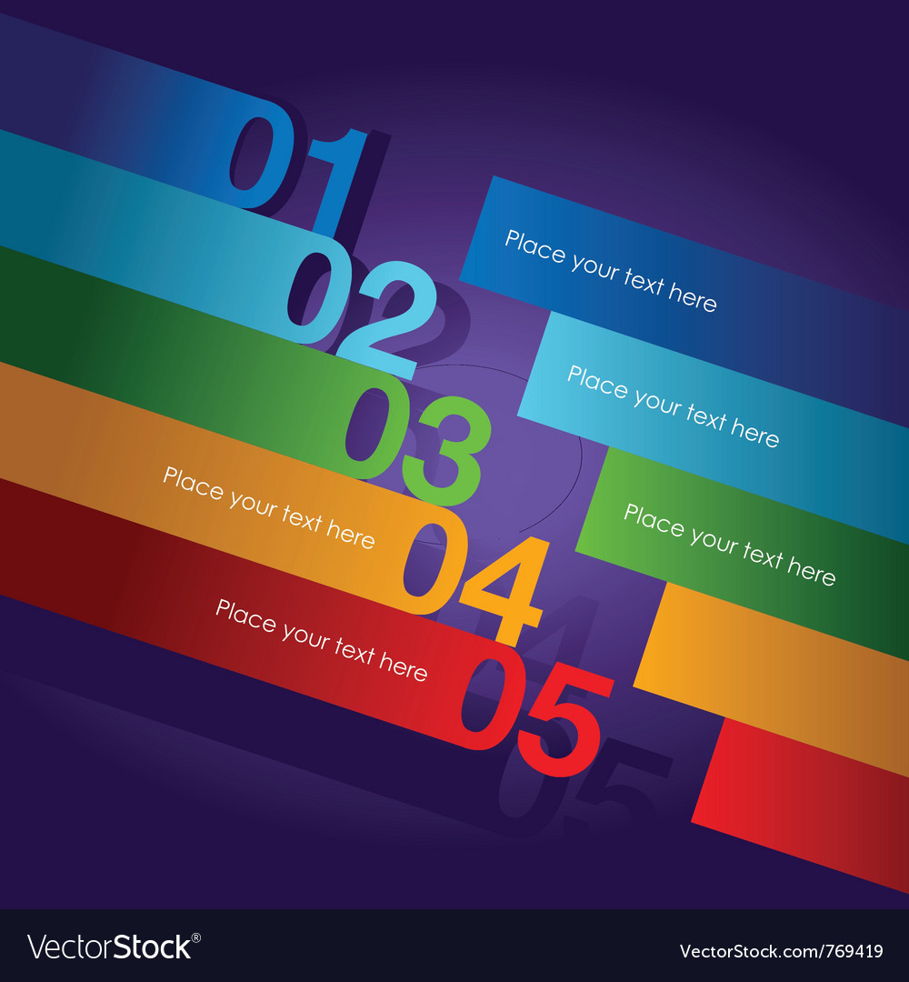 Abstract number line background vector image
