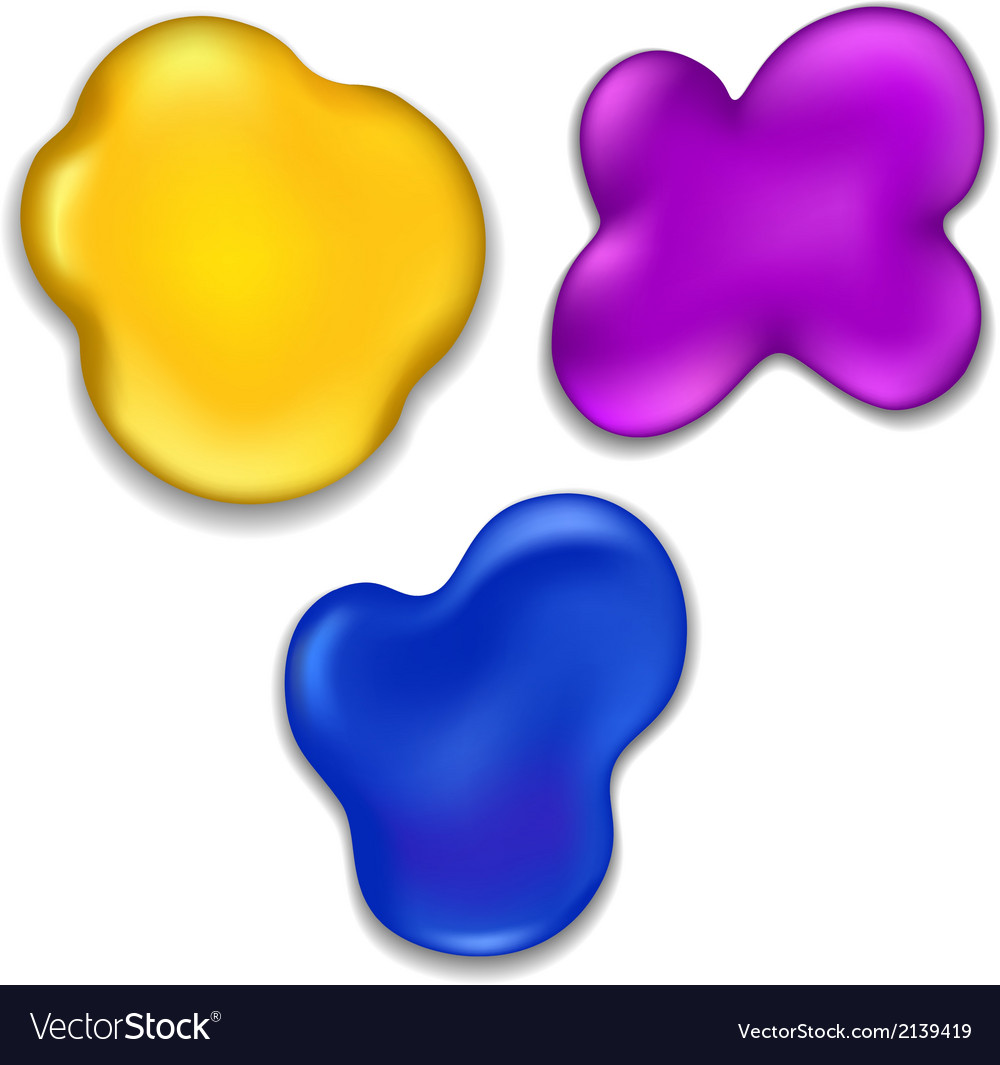 Colorful Paint Stains vector image