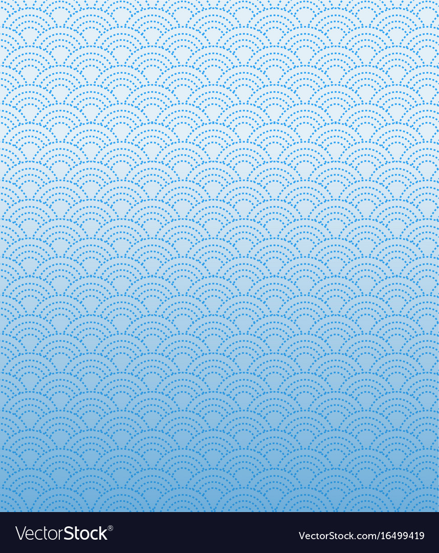 Dashed line pattern wave simple on gradient blue