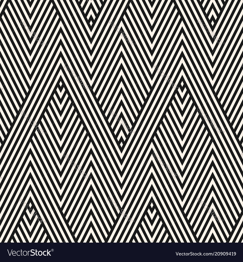 Geometric stripes seamless pattern modern zigzag