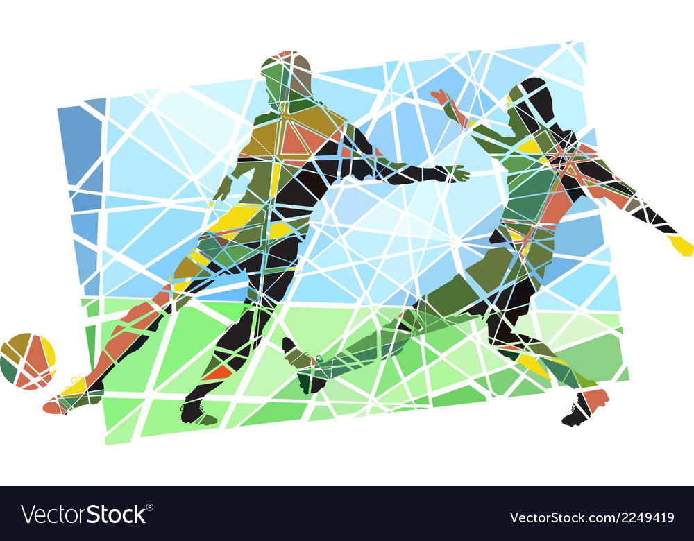 Multicolor footballers