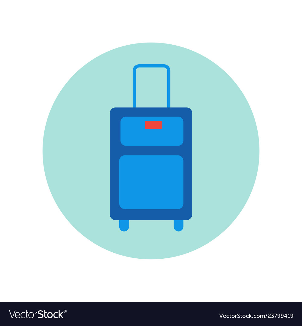 Suitcase icon isolated travel baggage case