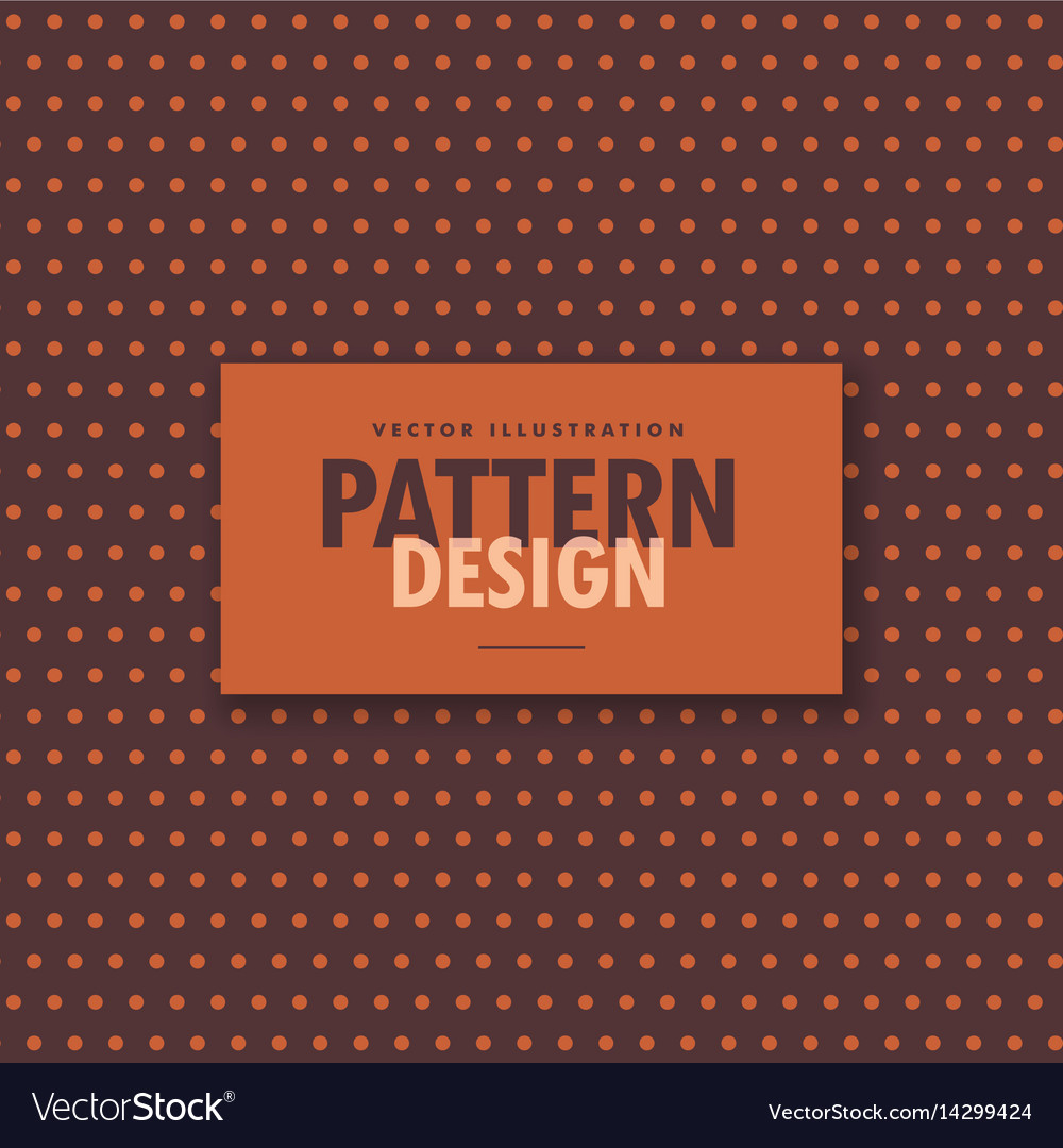 Brown polka dots pattern background