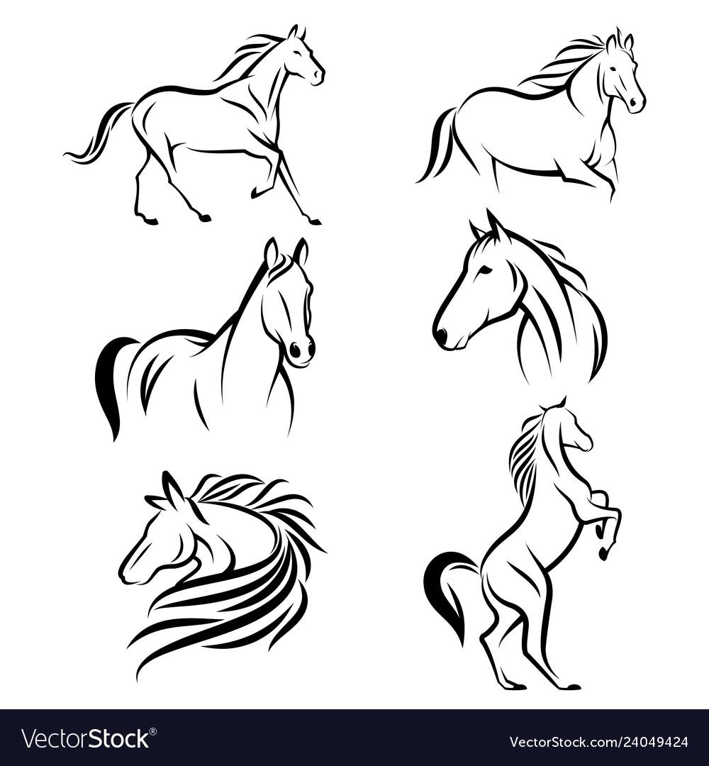 Horse logo design bundle