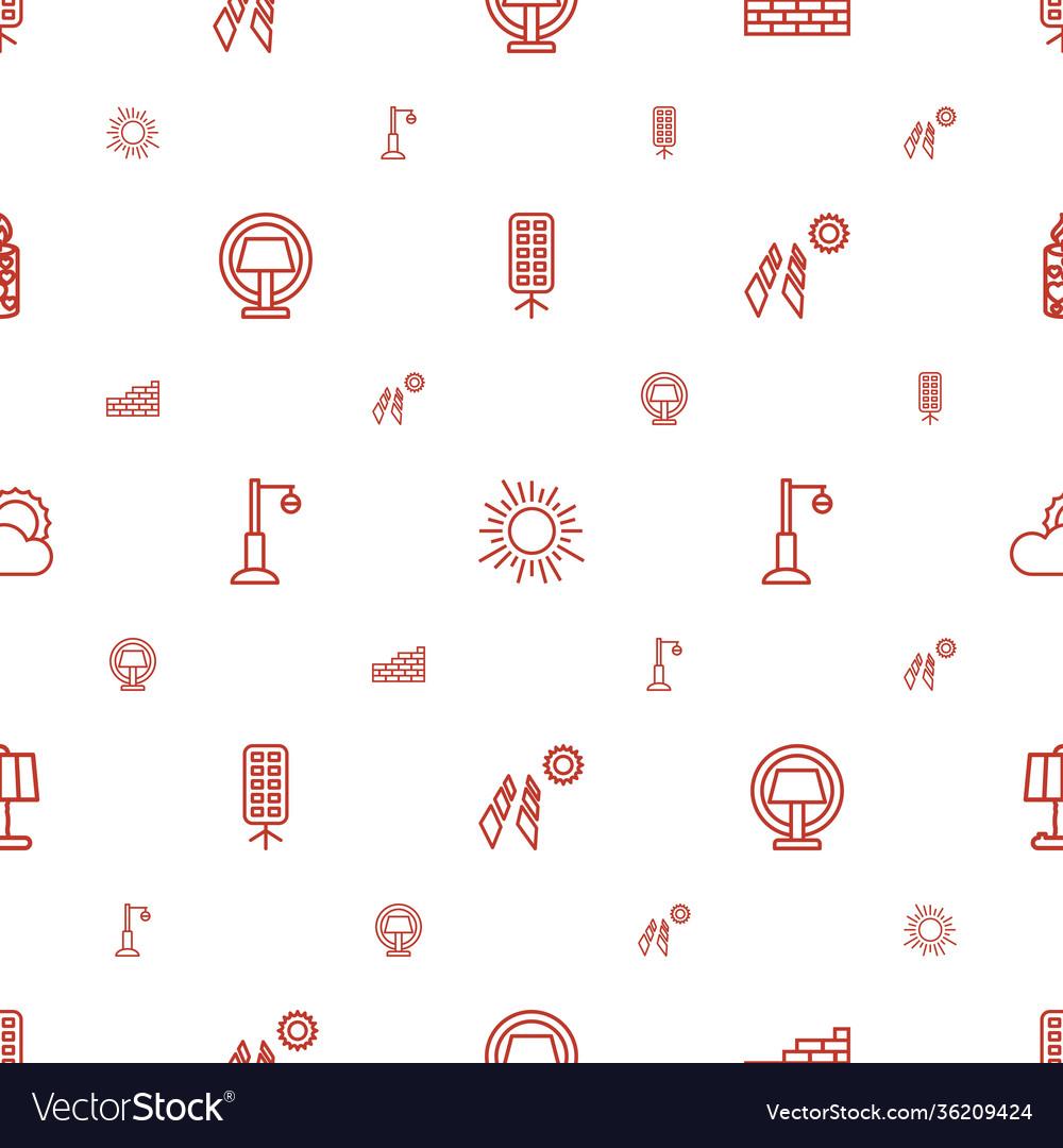 Light icons pattern seamless white background