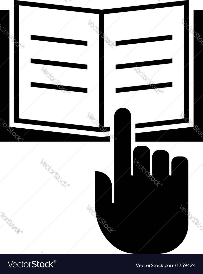 Read manual icon vector image