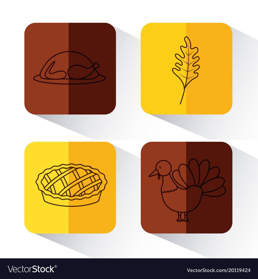 Set of thanksgiving holiday season
