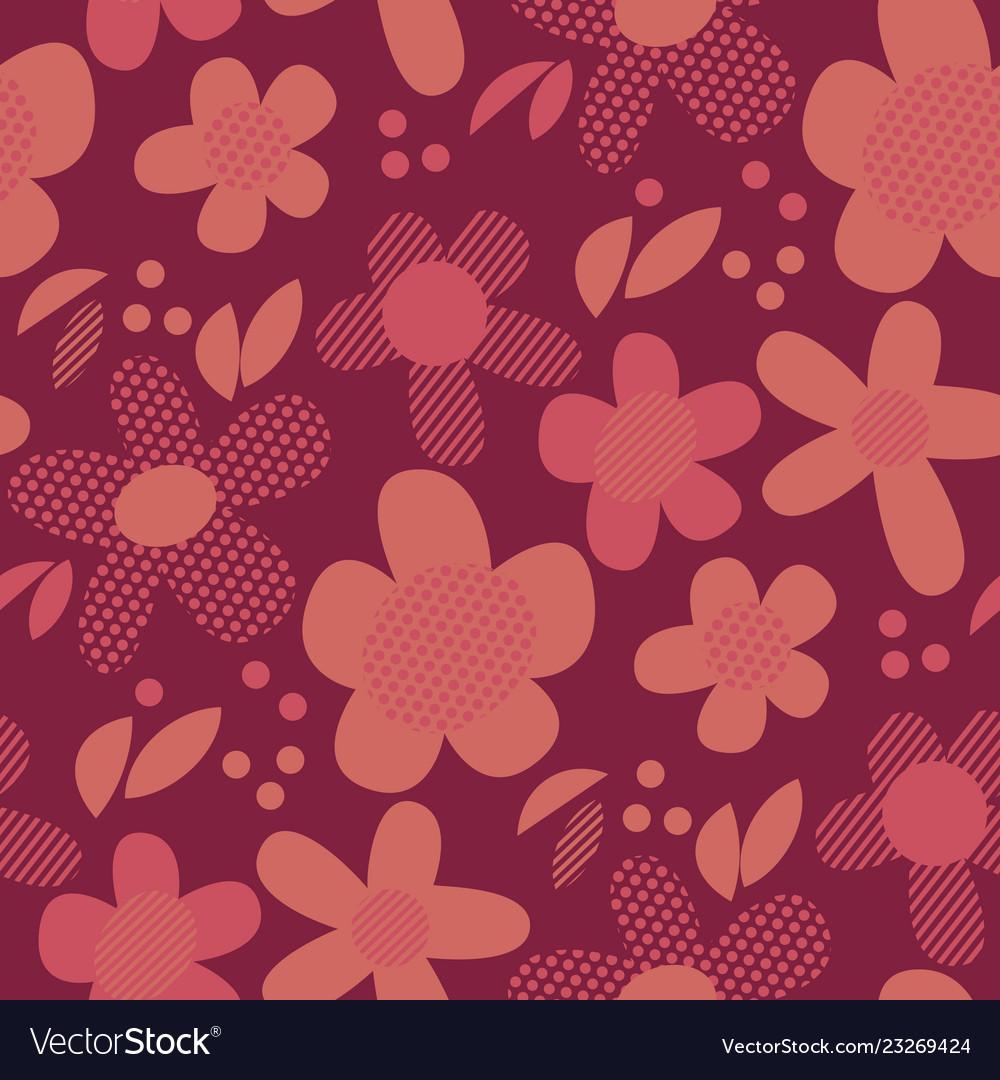 Vintage geometric style floral motif