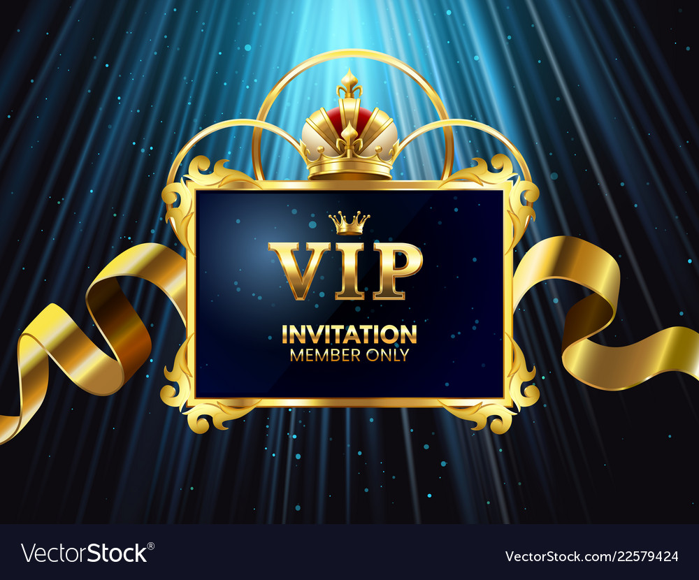 Vip invitation card glamour celebration party