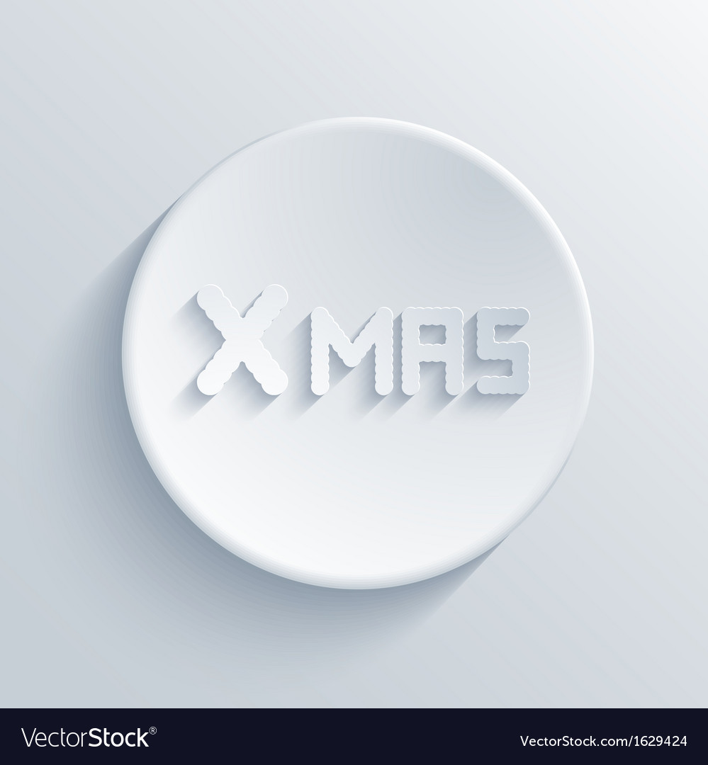 Xmas light icon vector
