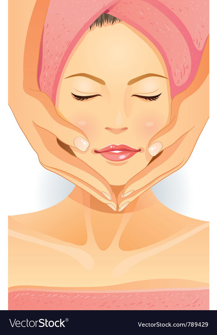Facial spa vector image