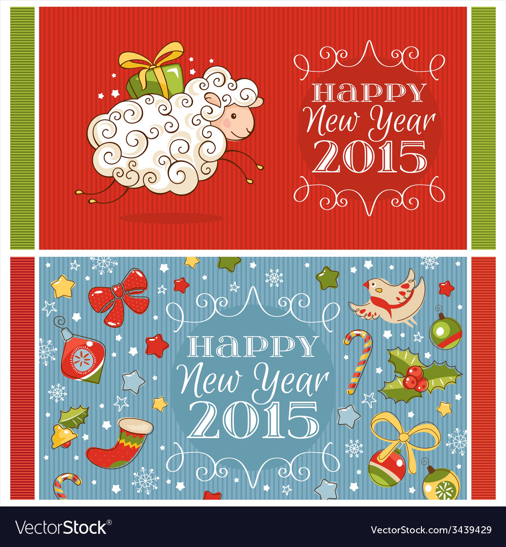 New year greeting cards royalty free vector image new year greeting cards vector image m4hsunfo