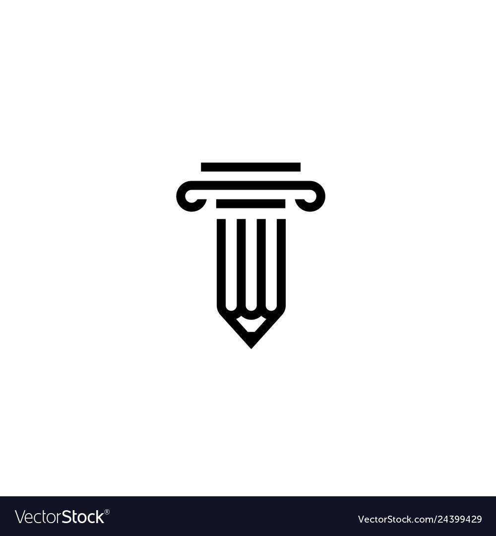Pencil law logo icon