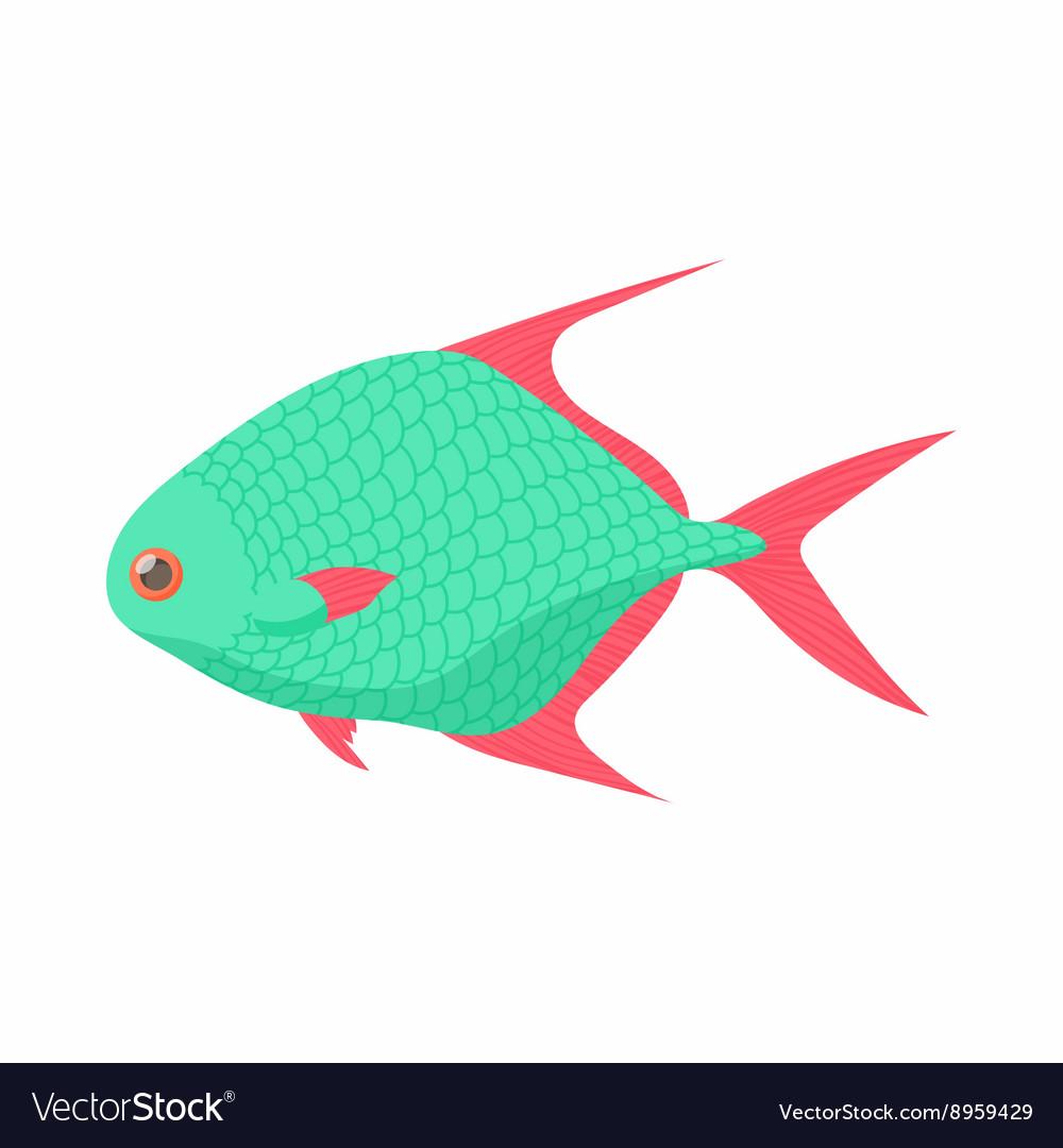 Tropical fish icon cartoon style