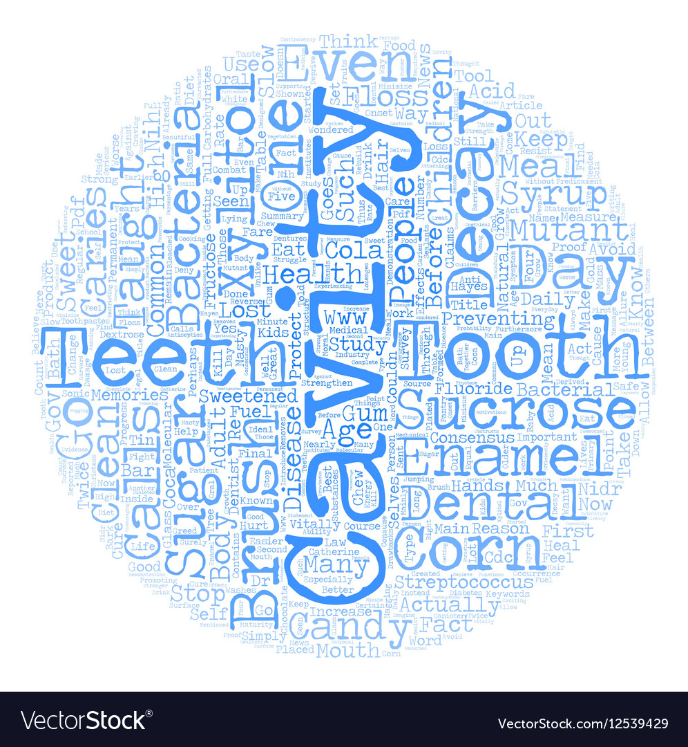 Xylitol the Cure for Caries text background