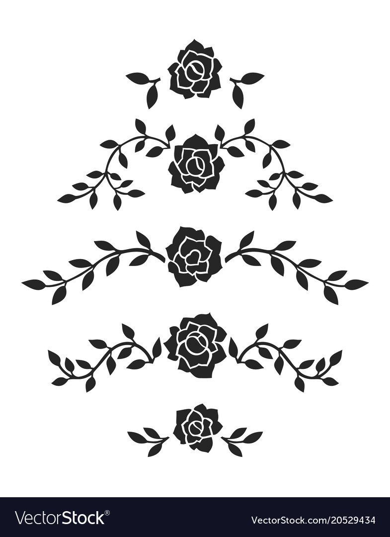 Abstract Roses Decoration