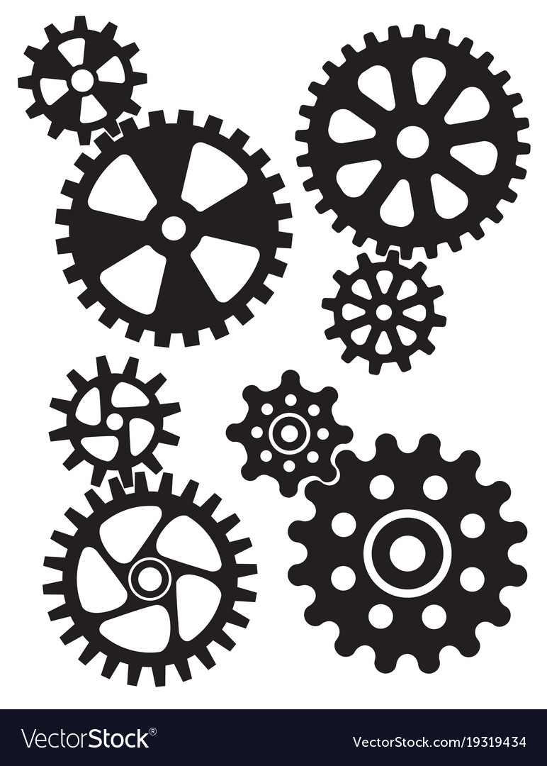 Cogs and gears interlocking design
