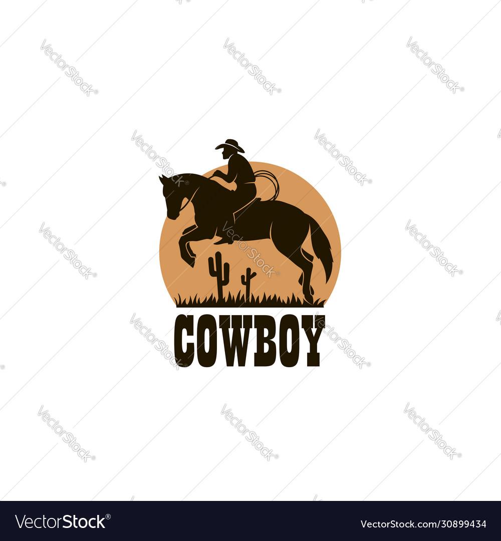 Cowboy silhouette icon