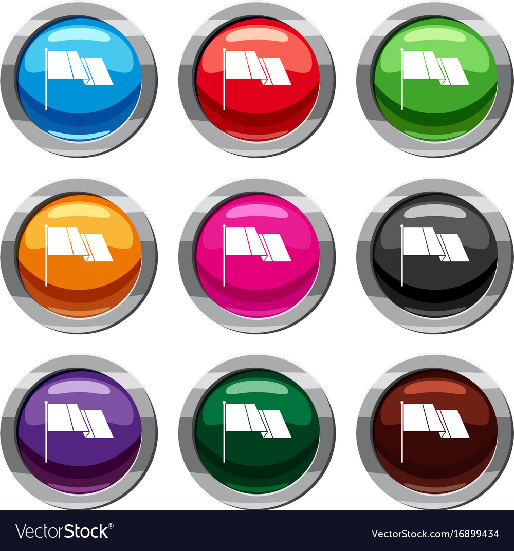 Flag set 9 collection vector image
