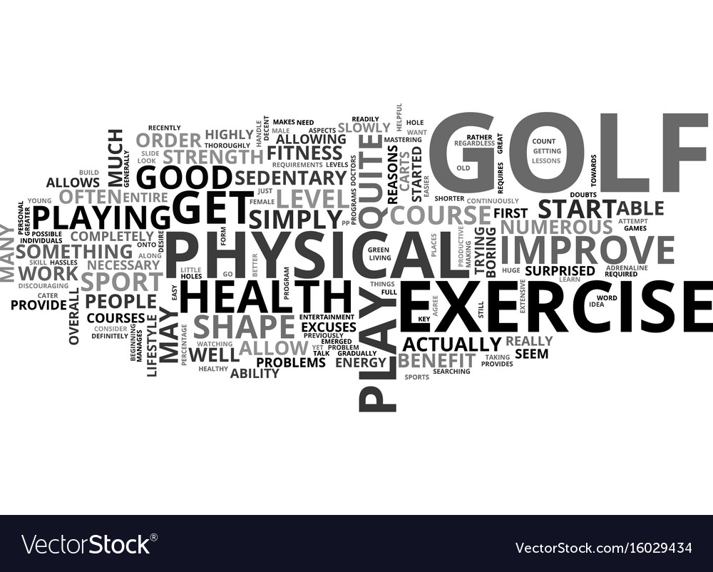 Is golf a good form of exercise text background vector image
