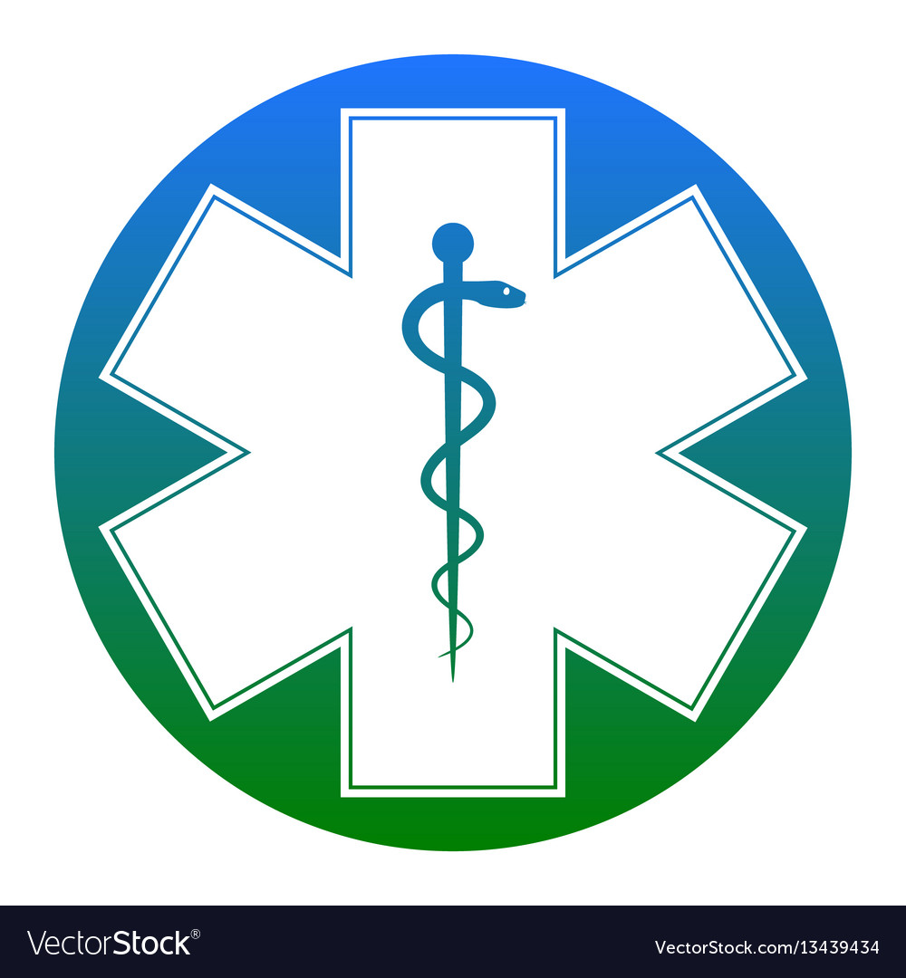 Medical symbol of the emergency or star of life